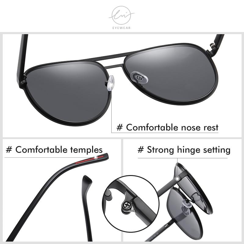Солнечные очки авиаторы lm поляризационные для мужчин и женщин