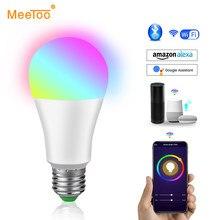 Bombilla inteligente con Bluetooth para decoración del hogar, lámpara LED RGB RGBW RGBWW con Control por aplicación, potencia de 5W 10W 15W 85-265V