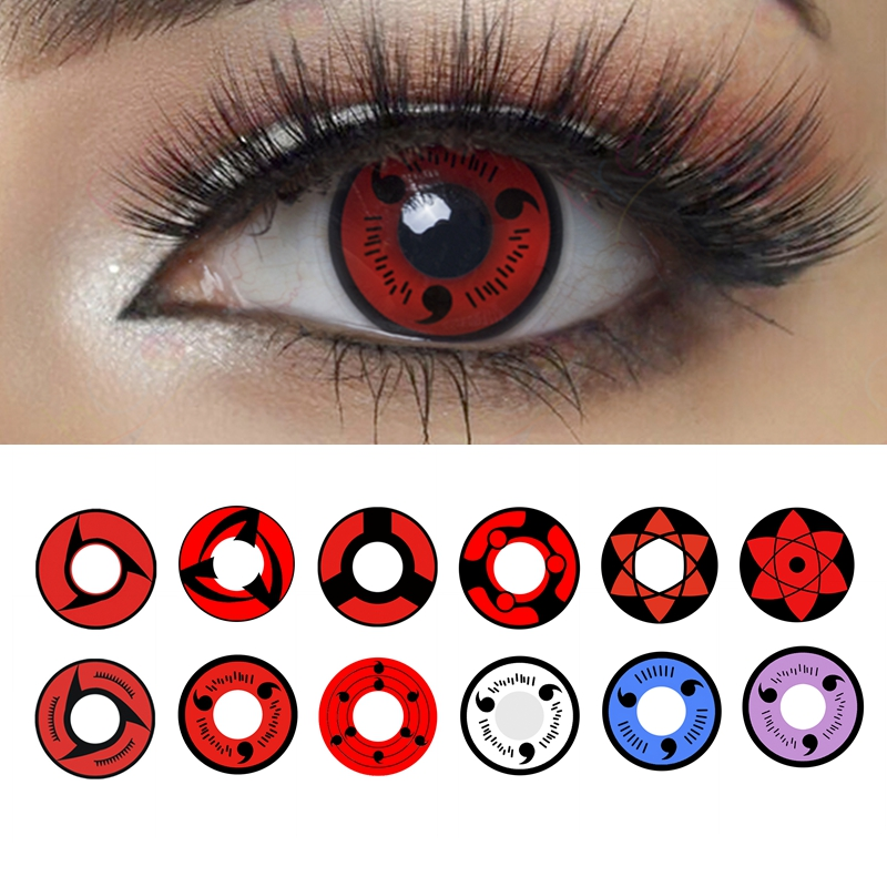 Sharingan Halloween Contacts For Naruto