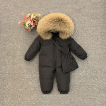 2021 Fur Hoodie Baby Girl Romper Down Thick Warm Boy Jumpsuit Winter Unisex Onesie Long Sleeve Toddler Clothes Infant Snowsuits
