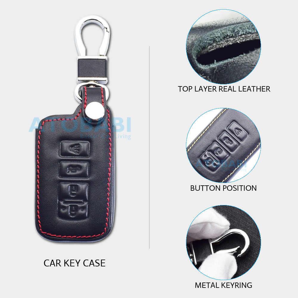 Carcasa Funda Llave Remoto Mando 2 Botones para Toyota Yaris Corolla Avensis Venza Rav4 Prado con Llavero de Cuero KASER