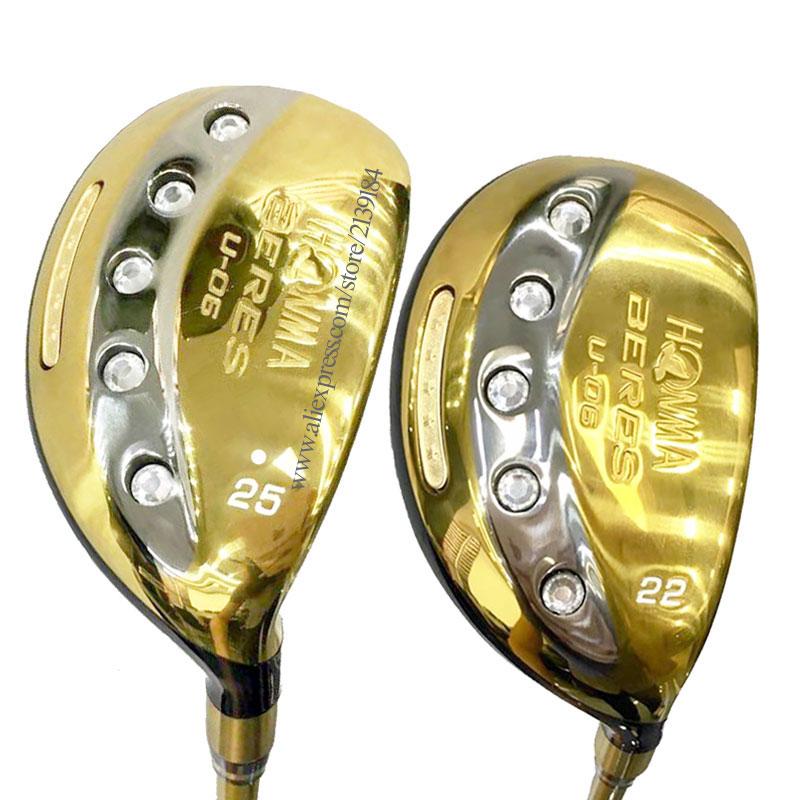 New Golf Wood Hybrids HONMA U-06 Hybrids U19 Or 22 25 Loft Golf Clubs Graphite Shaft R Flex Golf Shaft Cooyute Free Shipping