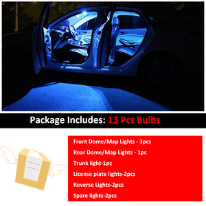 Image 5 - 13pcs Canbus Reverse Lights For Nissan Fo Qashqai J10 J11 2007 2019 LED License Plate Lamp+Interior Roof Map Dome Light Bulbs