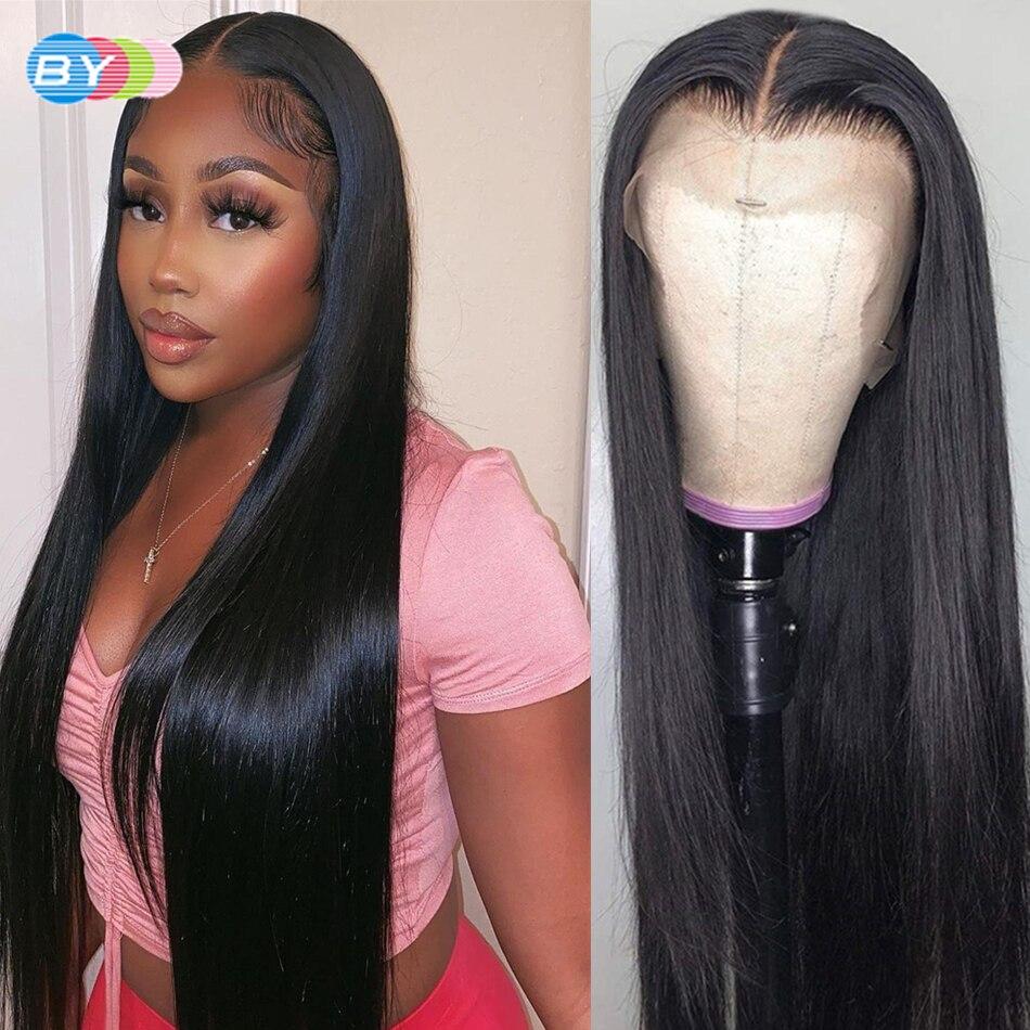 linha reta perucas de cabelo humano para