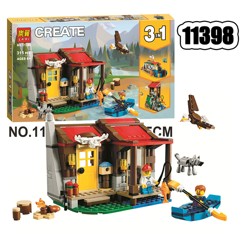 New 11398 City Compatible With lepining Creative Three in one 31098 Outback Hut Children Assembled Building Block Toy|Blocks| |  - title=