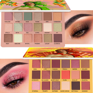 18 Color EVA Eyeshadow Pallete Matte Shimmer Eyeshadow Waterproof Long-lasting Makeup Eyeshadow palette Cosmetics