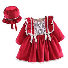 Dresses Girls Lawadka Kids Winter New-Year Warm with Hat for 0-4T Velvet Thicken