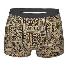 Símbolos hieroglíficos mitologia egípcia antigo egito deuses atum horus osiris calcinha cueca confortável shorts boxer briefs
