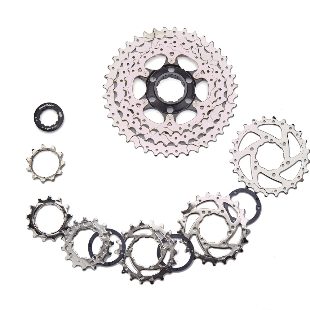 Sunrace 9 Speed MTB Cassette csm990 40T 11 - 40T Wide Ratio 9s Mountain Free Wheel Freewheel Black silver 425g image