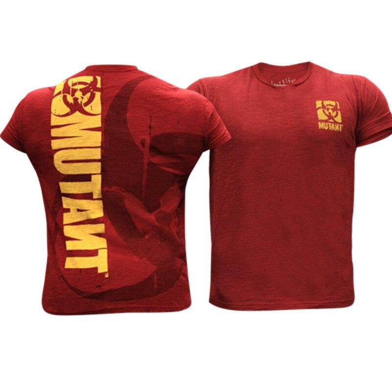 2020 Men T Shirt Bodybuilding Brand T Shirt Gyms Casual Short Sleeve O-neck Fitness Pattern Print Cotton Mens Tees