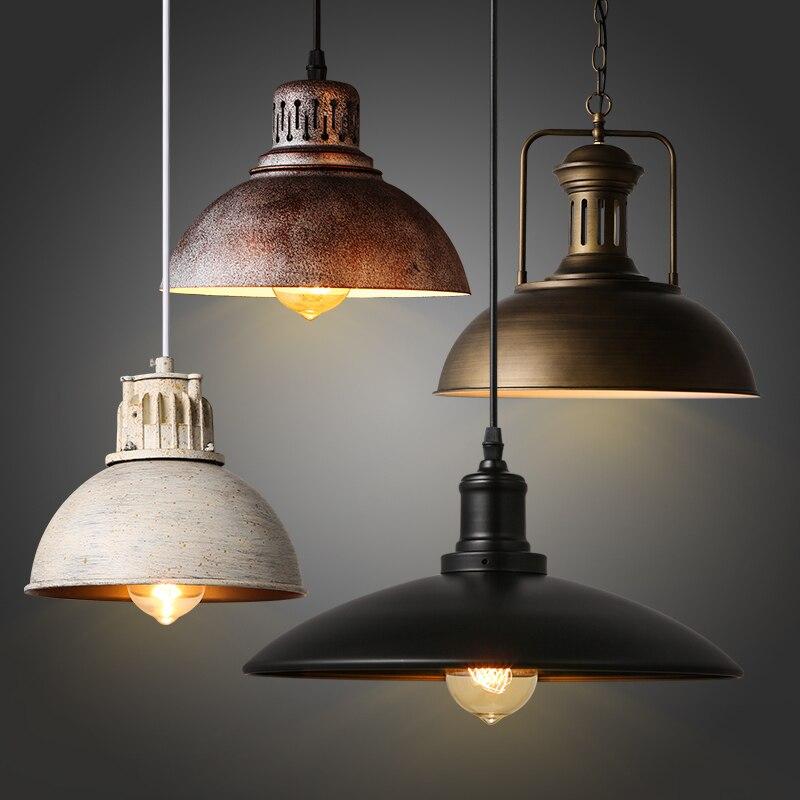 American Retro Industrial Loft Cafe Bar Iron Pot Restaurant Bar Cafe Hot Pot Shop Chandelier Luminaire