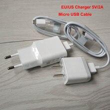 シャオ mi アダプタ 5V2A EU/米国のプラグインウォール旅行電話充電器 + mi cro USB データ同期シャオ mi mi 3 4 赤 mi 4x 4a 5a 5 注 4 5 7 7A 6A
