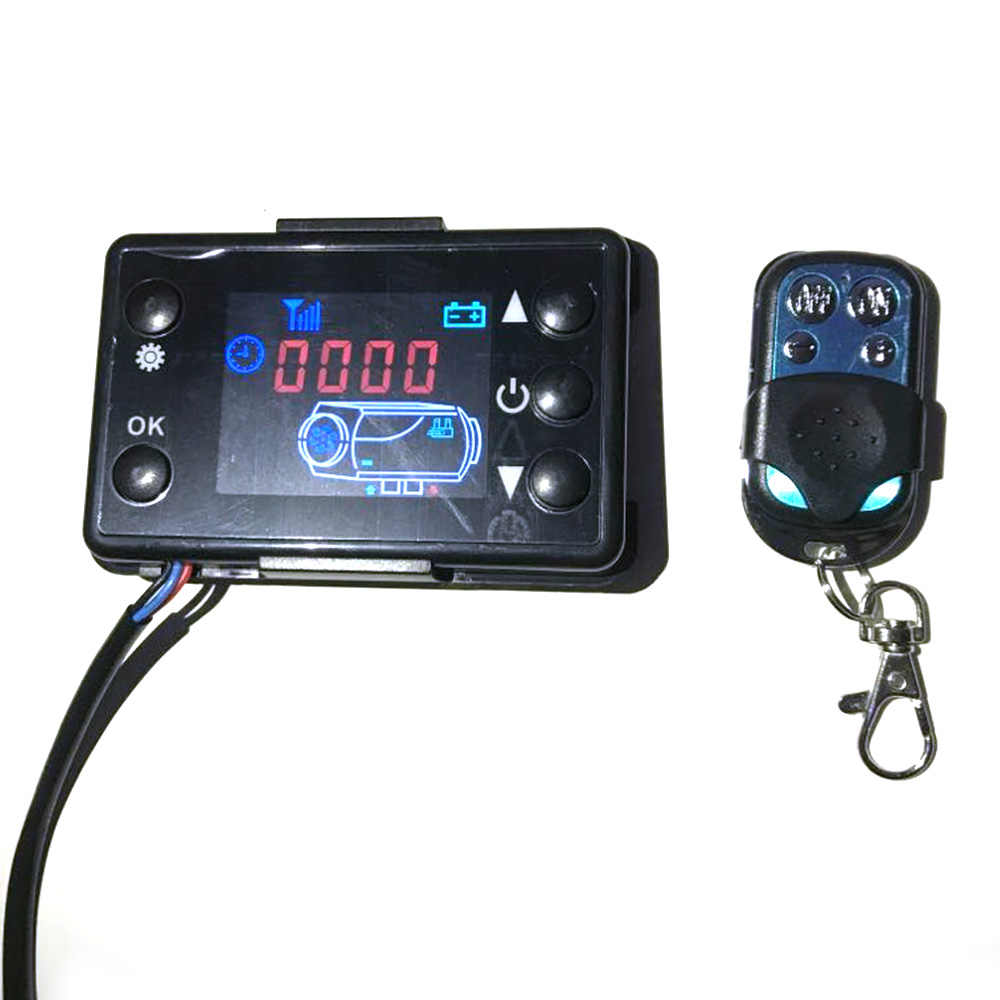 12 V/24 V LCD Monitor Switch + Remote Control Aksesoris untuk Mobil Melacak Mesin Diesel Air Heater Parkir Pemanas