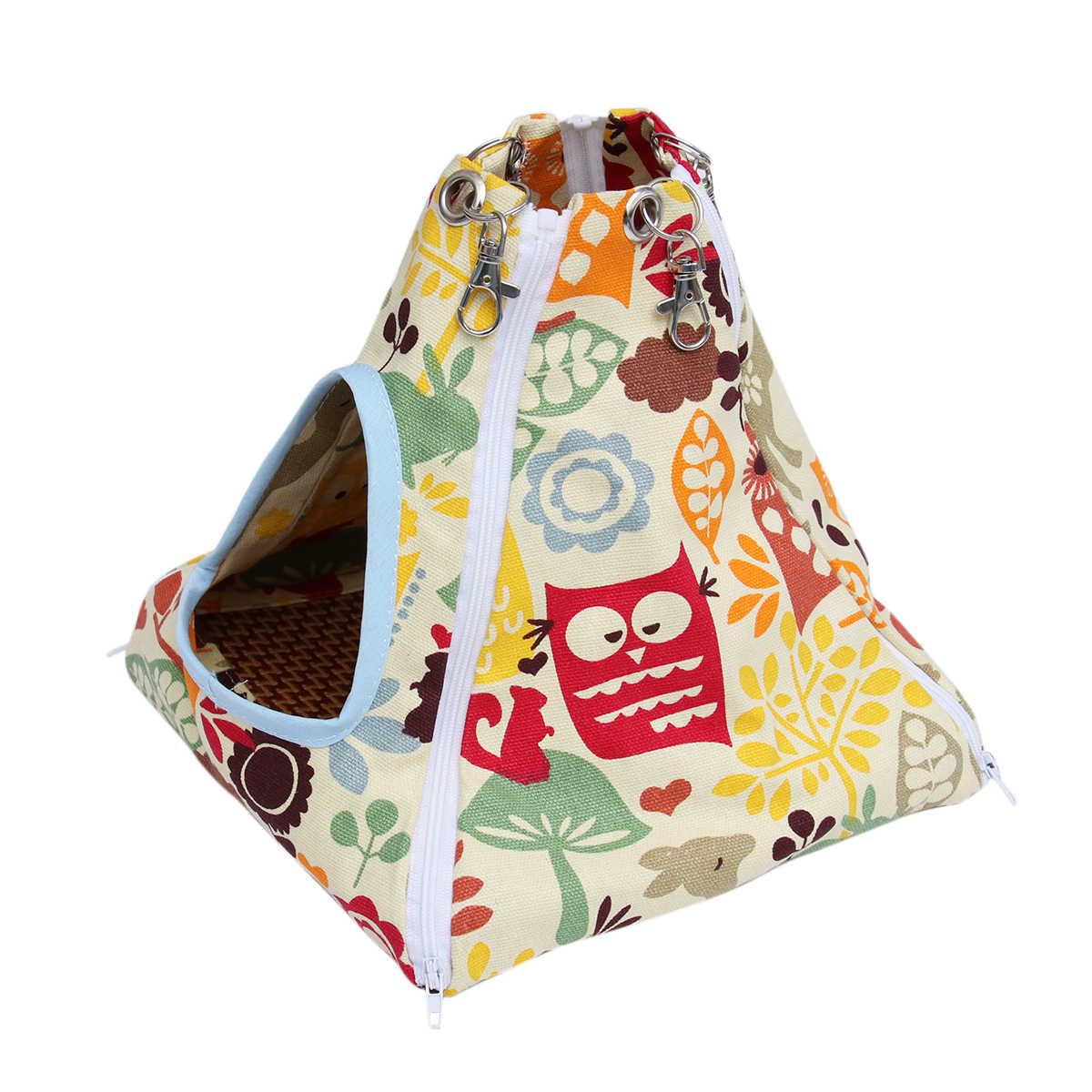 Tema do jardim zoológico Impresso Pequeno Pet Hammock Tenda-stype Ninho Pet Casa para Rato Hamster Ferret Coelho Esquilo Hanging Bed brinquedos do papagaio