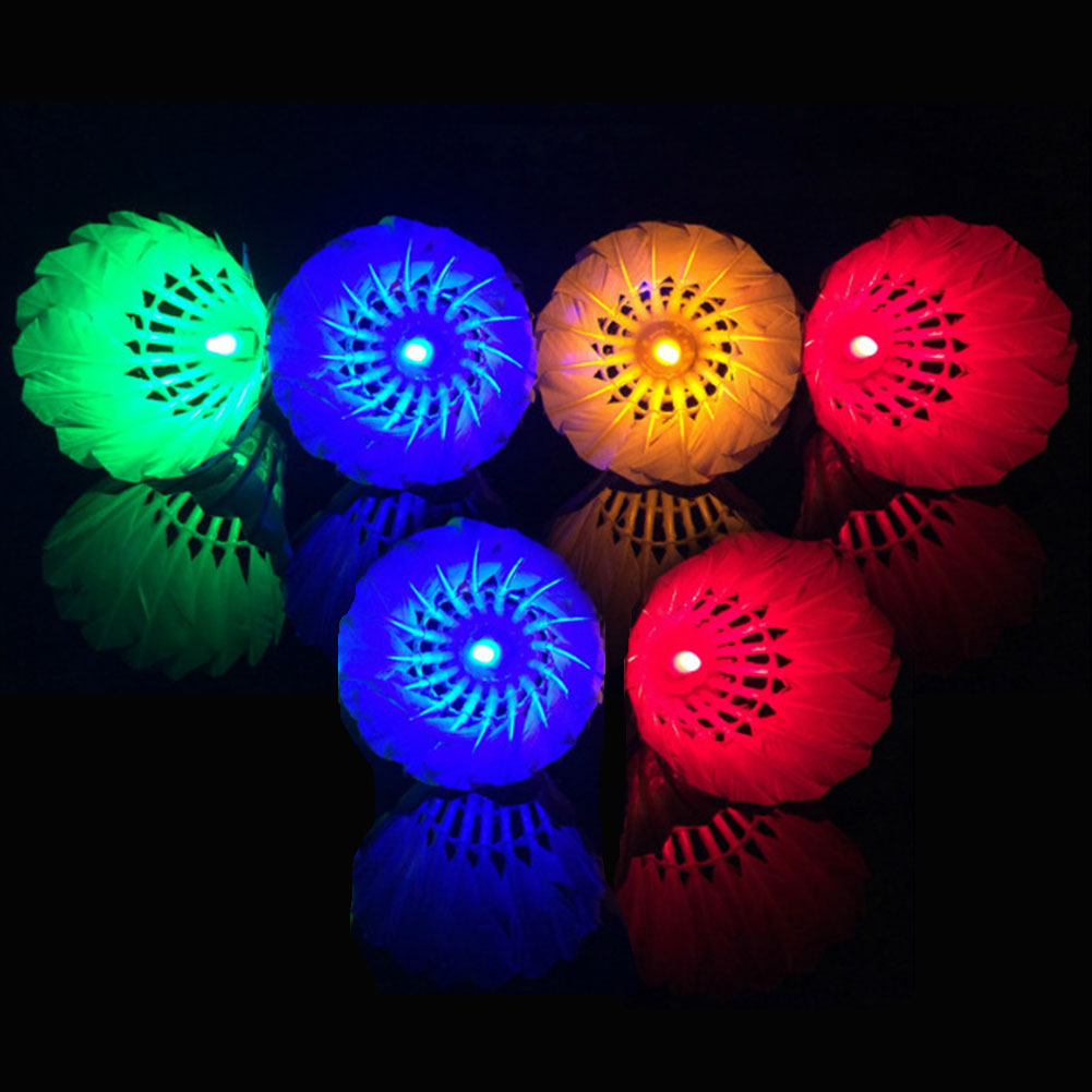 Lighting Badminton Shuttlecock Dark Night Colorful LED Lighting Sport Badminton Ball Accessories Light Spot Shuttle Cock