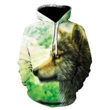 Толстовка с капюшоном осень 2020 новинка 3d волк модная мужская