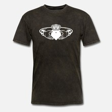 Camiseta masculina claddagh ring (2) camisetas femininas-tshirt(China)
