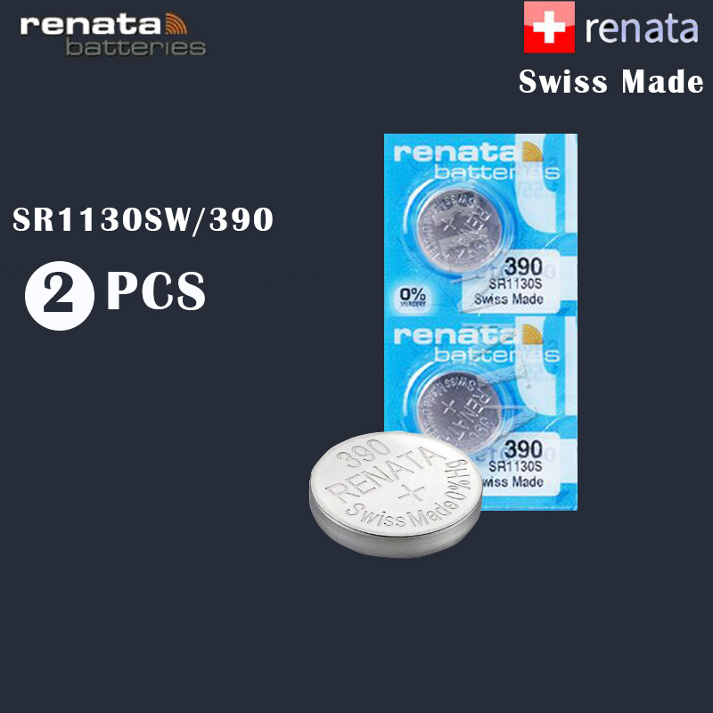 2 шт./лот Renata 390, 100% оригинальный новый аккумулятор из оксида серебра для часов, долговечный, SR1130SW 1130 LR54 LR54 AG10 Swiss Made cell