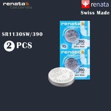 Renata – batterie de montre en oxyde d'argent, 390 100% originale, 2 pièces/lot, nouvelle marque, SR1130SW 1130 LR54 LR54 AG10, cellule fabriquée en suisse