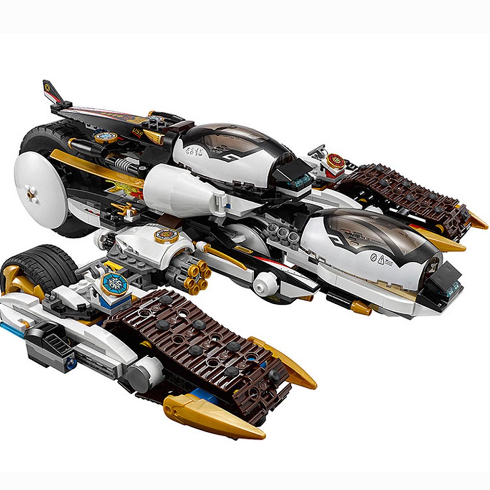 2020 New 1146pcs Ninja Ultra Stealth Raider Building Blocks Fit Ninjagoes 70595 Bricks Bricks Toys For Children Gift 2