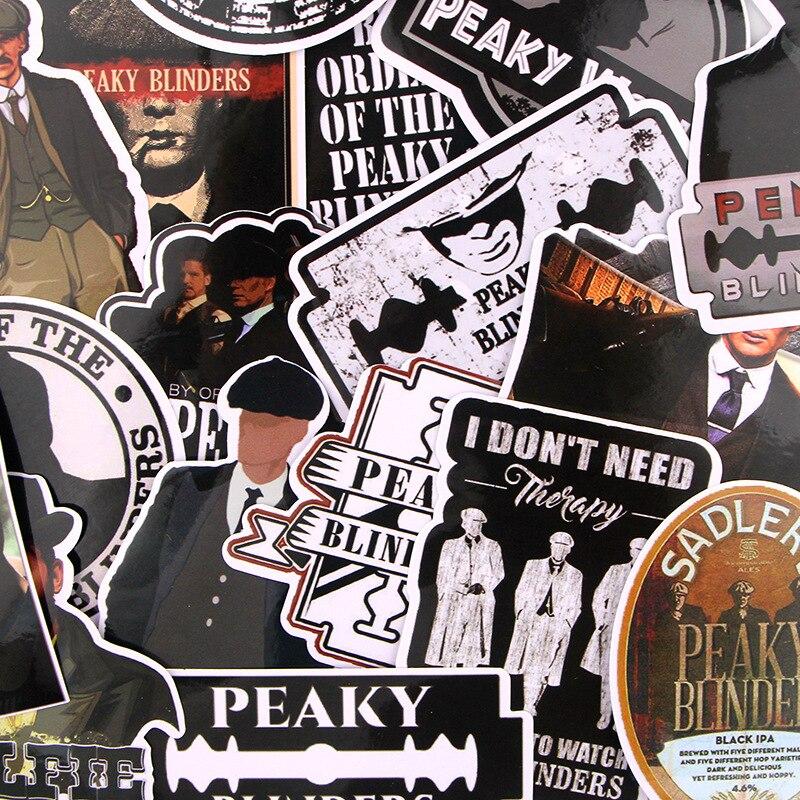 18pcs Peaky Blinders Movie Punk Sticker For DIY Phone Luggage Laptop Motorcycle Phone Waterproof Sticker