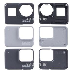 Image 1 - ZESTAW DO NAPRAWIANIA dla płyta przednia GoPro w celu uzyskania płyty czołowej nowy oryginalny przedni Panel pokrywa dla GoPro Hero 7 czarny/biały/ srebrny