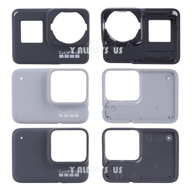 ZESTAW DO NAPRAWIANIA dla płyta przednia GoPro w celu uzyskania płyty czołowej nowy oryginalny przedni Panel pokrywa dla GoPro Hero 7 czarny/biały/ srebrny