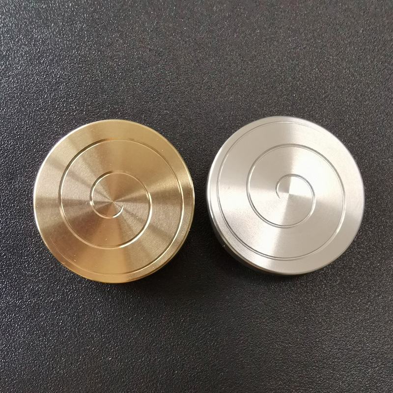 Dropshipping Coin Spinner Kinetic Desktoy Spinning Gyro For Children Adult Anti-stress Toy Stress Relief Metal Fidget Spinner