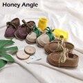 Honey Angle весенне-осенняя Новая модная повседневная детская обувь для девочек и мальчиков  Корейская версия  детская мягкая обувь для малышей  ...