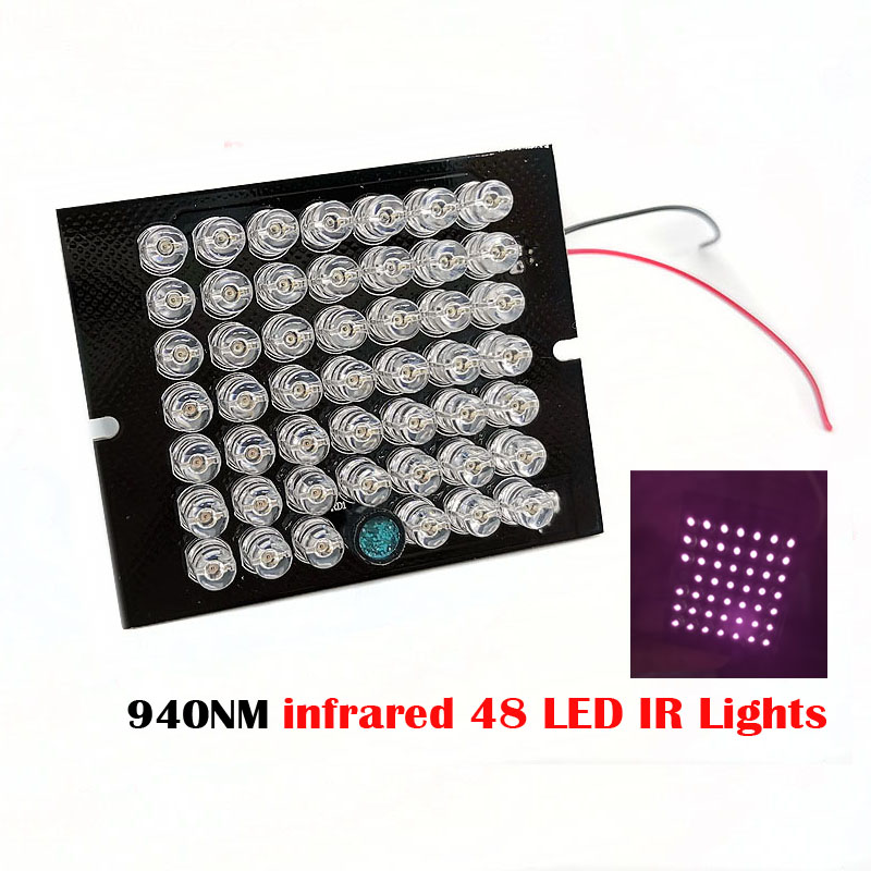 New Invisible Illuminator 940NM Infrared 60 Degree DC12V 48 LED IR Lights PCB For CCTV Security 940nm IR Camera