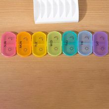 14 Grids Weekly Storage Pill 7 Day Medicine Tray Vitamin Tablet Case Box Organizer X5XC folding medicine plastic weekly tablet pill box case portable candy vitamin container storage organizer travel accessories