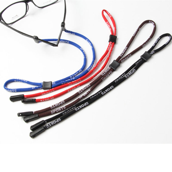 Skid Resistance Glasses Chain Rope Sports Anti-Slip Glasses Cord Eyeglasses Cord Letters Printed Adj