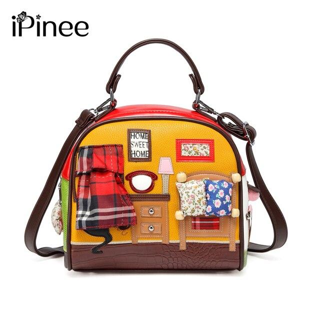 IPinee Mode Frauen Schulter Tasche Italien Braccialini Handtasche Stil Retro Handgemachte Stilvolle Frau Messenger Taschen