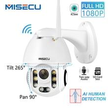 MISECU HD 1080P Camera IP Không Dây AI Con Người Phát Hiện Chảo Nghiêng 2MP Camera An Ninh Thẻ SD Ngoài Trời Chống Nước Công Suất bộ chuyển đổi tự do
