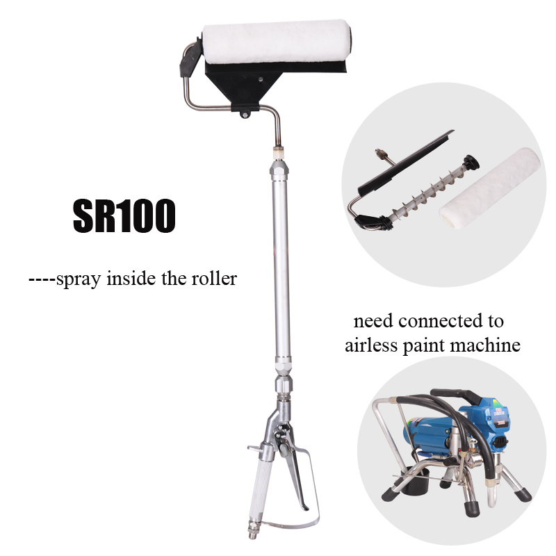 Airless Paint Pressure Roller For Finish Coating Painting Roller Sprayer Decoration Tools Spray Pressure Gun With Extension
