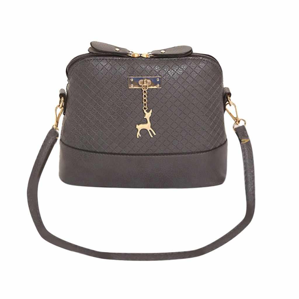 2019 mulheres mensageiro sacos de moda mini saco com veado brinquedo forma concha bolsa feminina bolsas de ombro bolsa #4