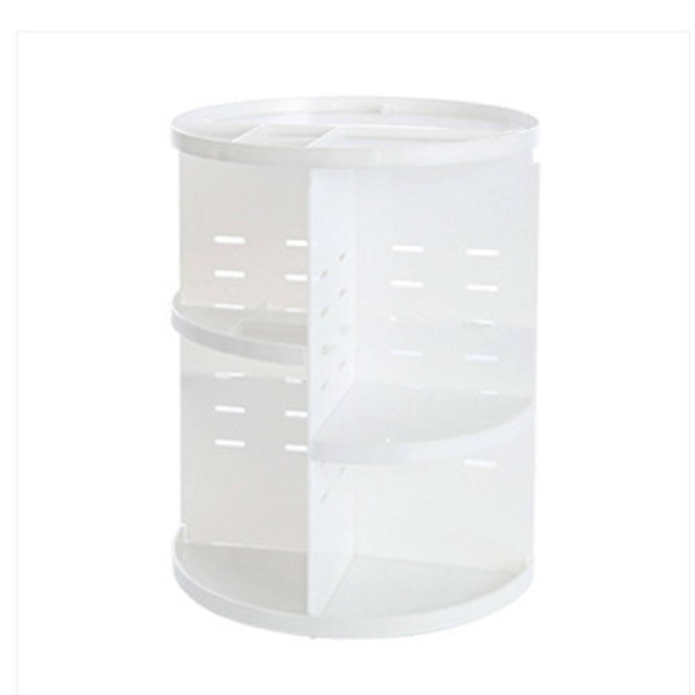 Adjustable Box Makeup Storage Cosmetics 360 Rotating Professional Shelf Durable Holder Organizer DIY Countertop Rack
