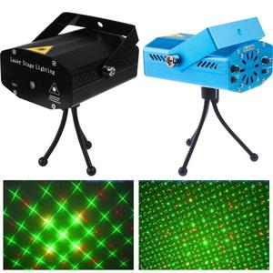 Image 2 - Mini LED Laser Projector Stage Light Effect Strobe Lazer Show Party Stage Soundlights DJ Disco Xmas Party Colorful Lamp 110 220V