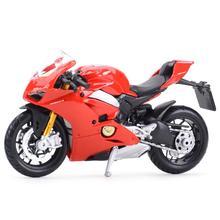 Bburago 1:18 Ducati-Panigale V4 статического Литой Транспортных средств Коллекционная модель мотоцикла, игрушки