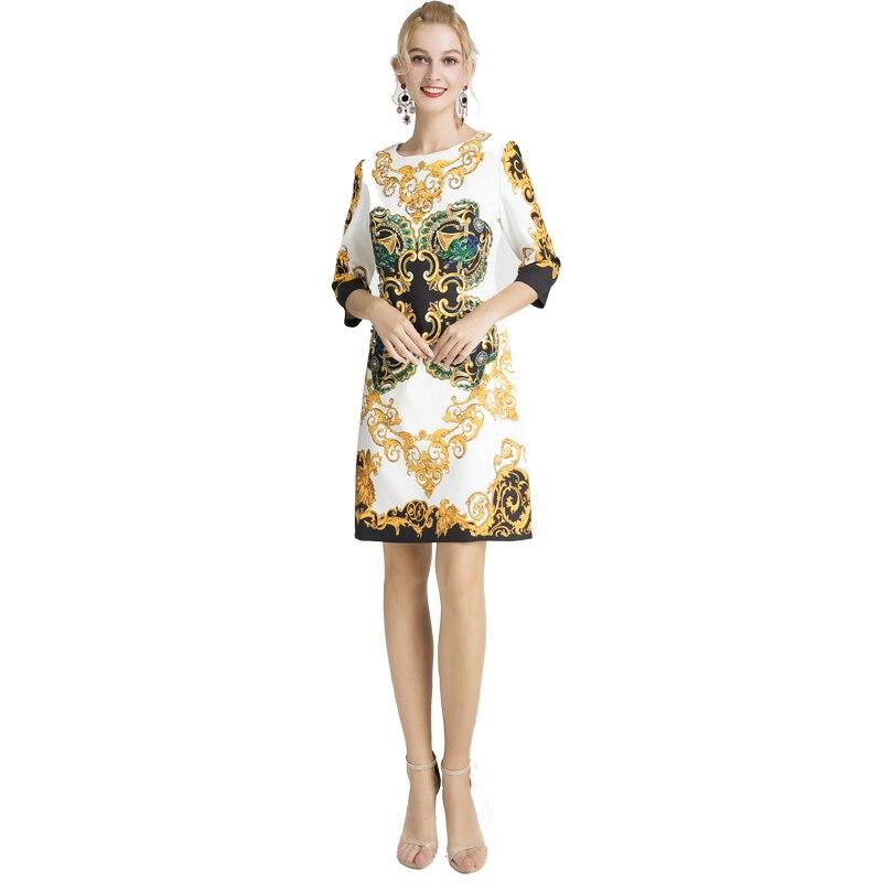 Ropa mujer 2019 herbst Fashion Runway poleras Hohe Qualität damen poleras pailletten kleid Wunderschönen Diamant rundhals büro kleid-in Kleider aus Damenbekleidung bei  Gruppe 3