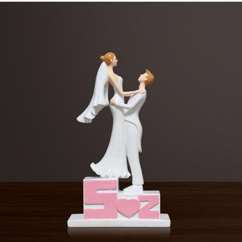 I love you weding cake topper bride and groom cake topper figurines wedding gifts favor engagement party decoration cake decor
