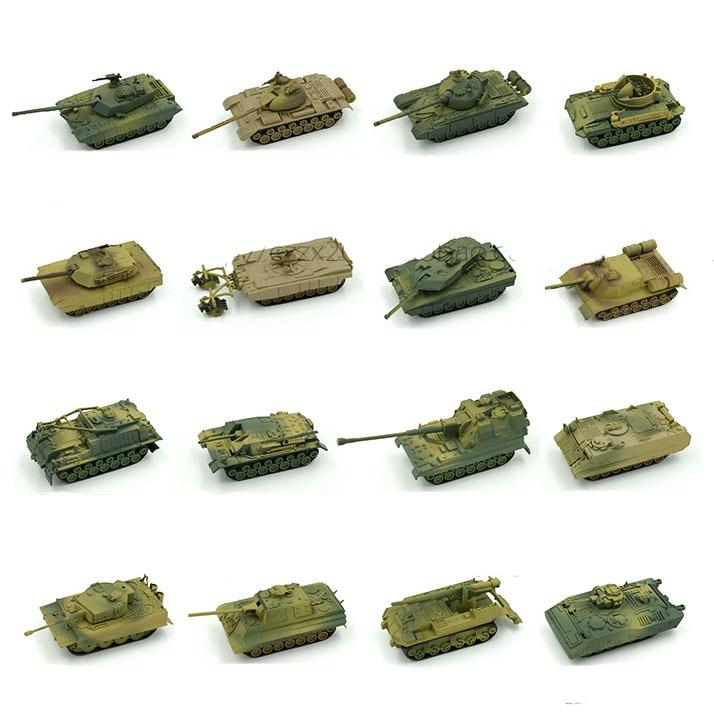 1pcs 1:72 4D Plastic Assemble Tank Kits World War II Model Puzzle Assembling Military Sand Table Toys For Children