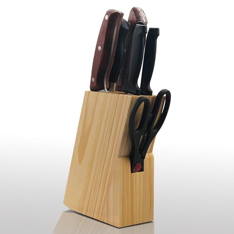 Wood Knife Holder Rest Bamboo Knife Block Stand Knives Storage Shelf Rack Storage Box Organizer Kitchen Accessories Tool