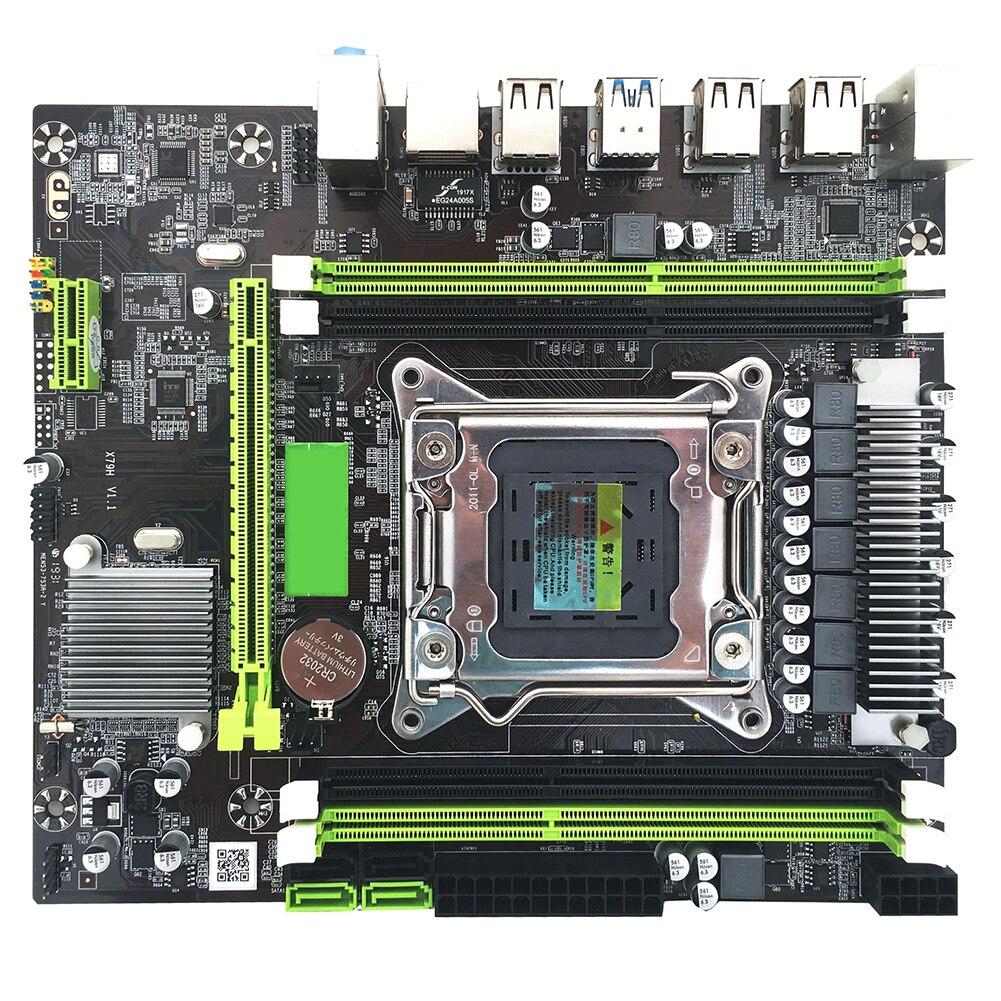 Dual Channel ECC Desktop Computer USB3.0 SATA3.0 Motherboard LGA 2011 PCI-e DDR3 Memory Mainboard Professional Indicator Light