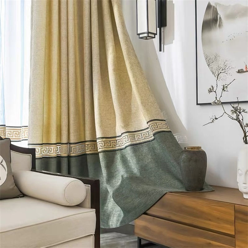 Chinese Style Luxury Bedroom Coffe Drapes Ready Made Door Curtain Fabrics Kitchen Curtains For Living Room Window Curtain Wp3023 Curtains Aliexpress