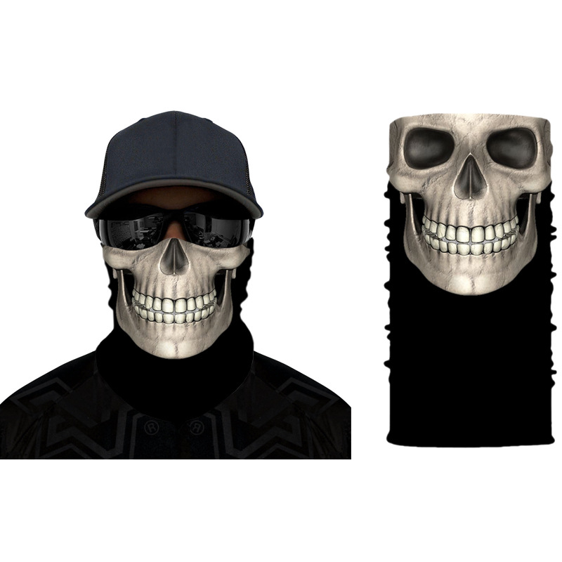 Skull Bandana Face Mask Outdoor Sports Fashion Mouth Face Mask Washable Skull Outdoor Riding Line Scarf Reusable