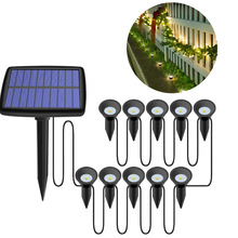 Ground Light Lawn-Lamp Landscape Solar Led Garden Outdoor COB Road