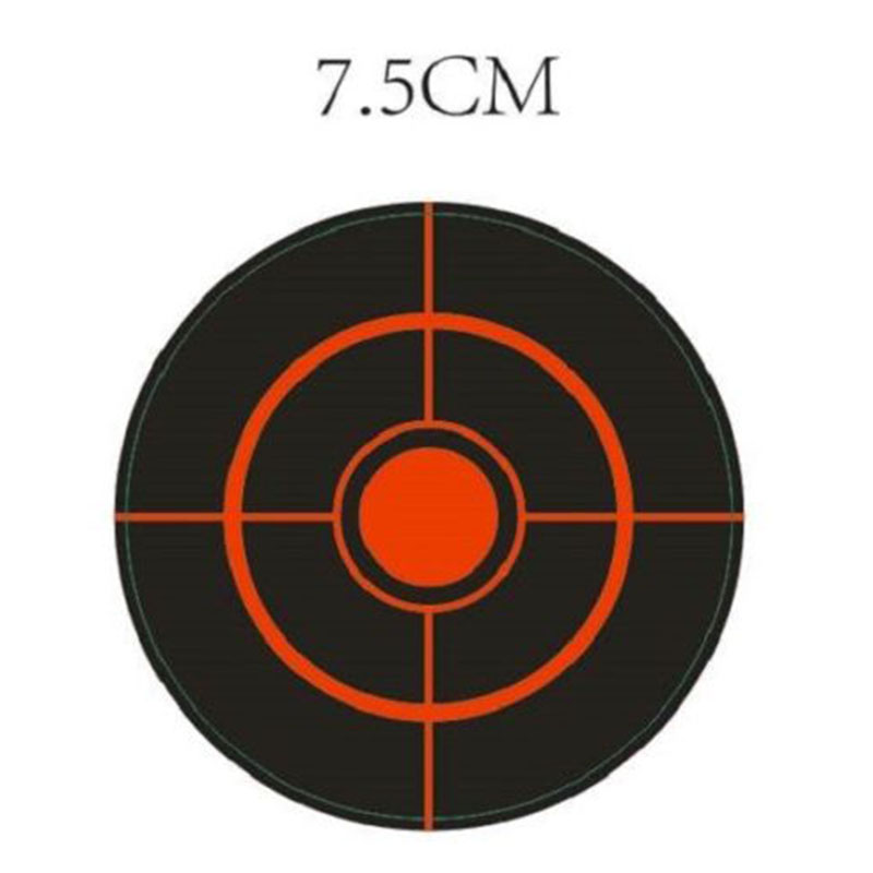 100pcs/lot Shooting Adhesive Targets Splatter Reactive Shooting Target Sticker 7.5cm For Y Bow Hunting Shooting Practice