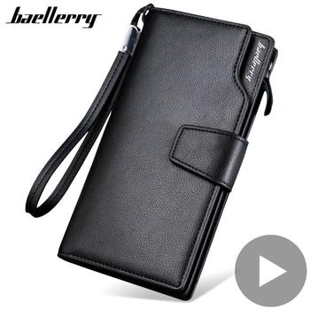 цена на Long Big for Men Wallet Male Purse Phone Money Clutch Bag Card Coin Holder Zipper Partmone Walet Vallet Brieftasche Penazenka