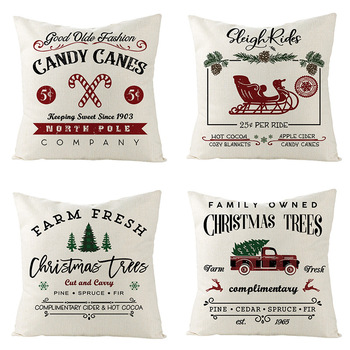 New Christmas Linen Cushion Cover Square Throw Flax Pillow Case Sofa Decorative Pillow Cover Christmas Pattern Pillowcase pure туалетная вода 75мл